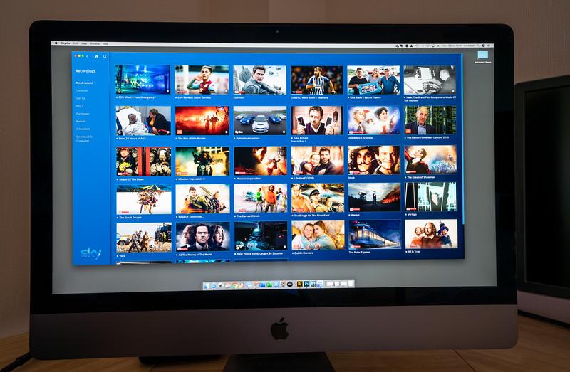 SkyQ App on an iMac Pro Retina