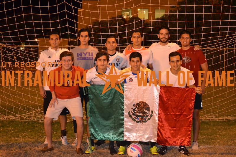 Fall 2015 Soccer Men's A Runner Up Atletico San Cuauthemoc
