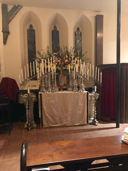 work begins on the altar of repose