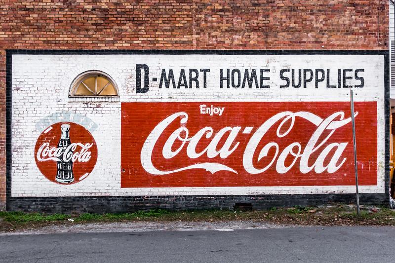 GA, Lavonia - Coca-Cola Ghost Sign 02