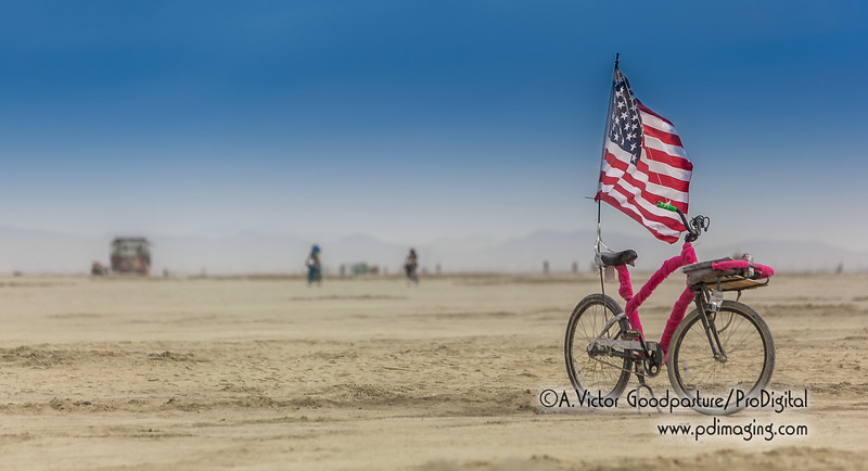 One consistency throughout the playa was the seemingly endless number of bikes that were abandoned in the middle of nowhere.