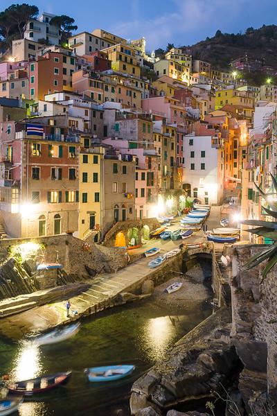 'Riomaggiore Evening' - Cinque Terre, Italy