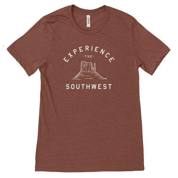 Organ Mountain Outfitters - Outdoor Apparel - Mens T-Shirt - Experience The Southwest Tee - Heather Clay.jpg