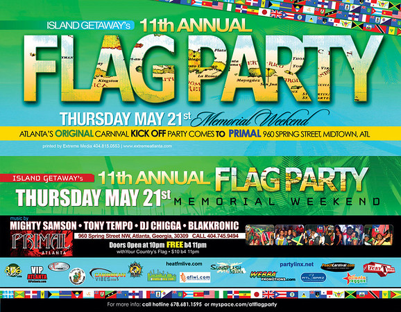 Island Getaway's 11th Annual FLAG PARTY @ PRIMAL :: ATL, GA, USA [May.21.2009]