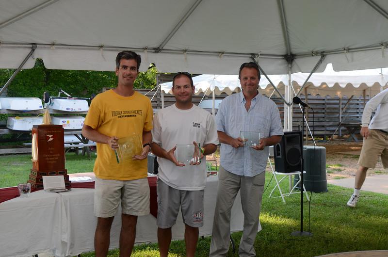 8/12/2012 Fishing Bay Yacht Club 73rd Annual One Design Regatta - Laser Winners.