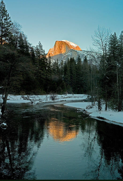 . Half Dome in Yosemite Valley. The granite crest of the dome rises  more than 4,737 feet above the Valley floor. (Photo by Gloria Fogler-Mancini)