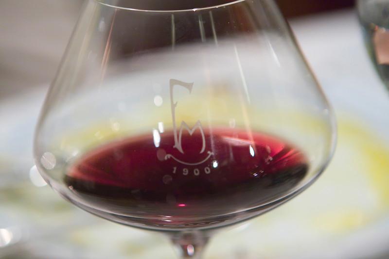 The wine.