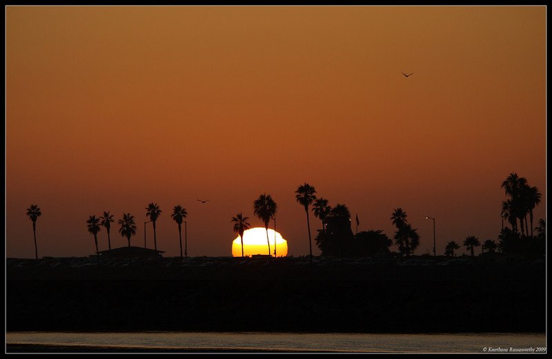 Sunset at San Diego River, Robb Field, San Diego County, California, July 2009