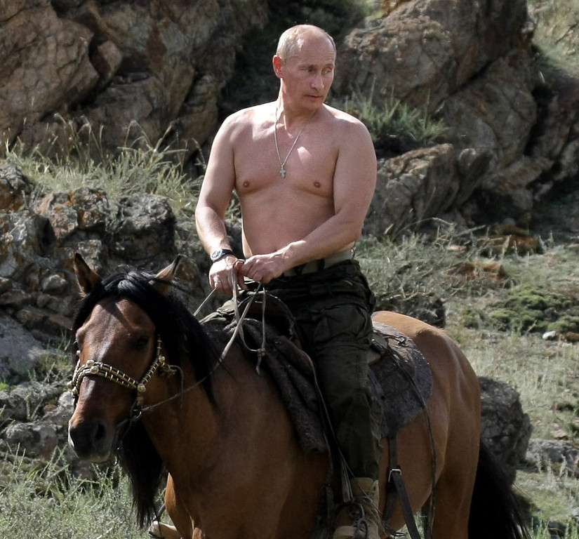 """. <p><b> Russian President Vladimir Putin dismissed the Internet as a �CIA project� and warned Russians that they should stop � </b> <p> A. Using Google searches <p> B. Downloading illegal music <p> C. Photoshopping his head onto topless women <p><b><a href=\'http://abcnews.go.com/International/wireStory/russias-putin-calls-internet-cia-project-23452488\' target=\""""_blank\""""> LINK </a></b> <p>   (Alexsey Druginyn/AFP/Getty Images)"""