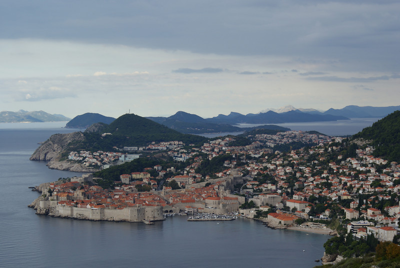 Here we are leaving Dubrovnik (pictured) and heading towards the Montenegro Alps.  Montenegro, as you will learn, is a place you should not go.