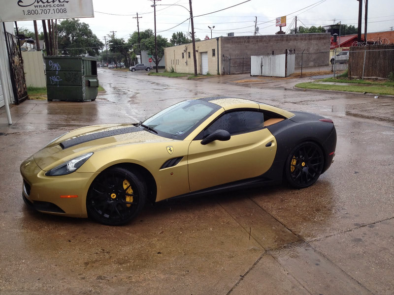Skinzwraps Matte Black on a Ferrari in Dallas, TX www.skinzwraps.com
