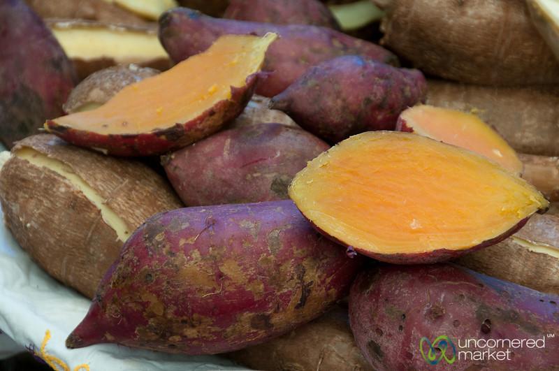 Sweet Potatoes at Etla Market - Oaxaca, Mexico