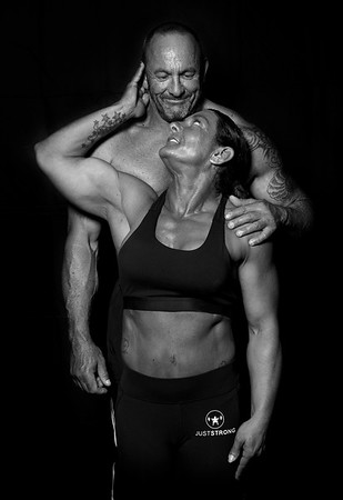 Rick  And Angela Bodybuilding Photo Shoot B&W