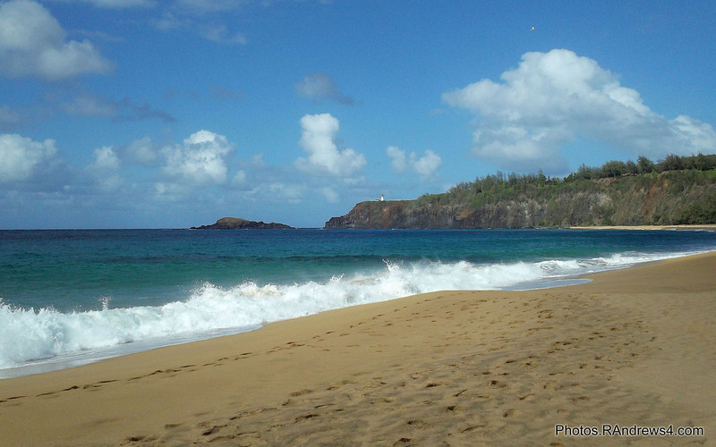 """Kilauea Lighthouse from """"Secret Beach"""""""
