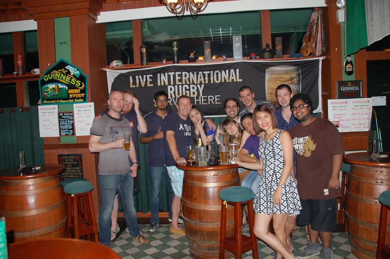 Left to right: Poland (Jarek), New Zealand (Cory), Mauritius, England (Ian), China (Amanda), Spain (Mariano 'Ricardo Sanchez'), Russia (Jenny), Poland (Me), China (OneWay), Phillipines (Mary), Czech Republic (Radek), India (Keith)