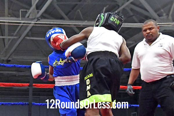 Bour 4 Mason Huntley, Blue Gloves, Team Cartel -vs- Abdullah Mason, Red Gloves, DNA Level C BC, 75 Lbs, Bantam