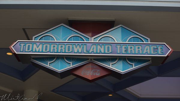 Disneyland Resort, Tokyo Disneyland, Tomorrowland, Tomorrowland Terrace, Sign