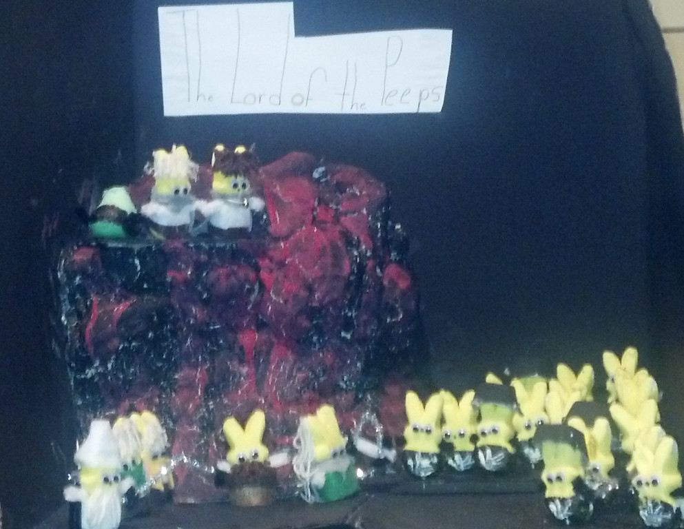 . Zoe Schantz, Age 9 The Lord of the Peeps; the Battle at the Black Gate [The Lord of the Rings By J.R.R Tolkien]