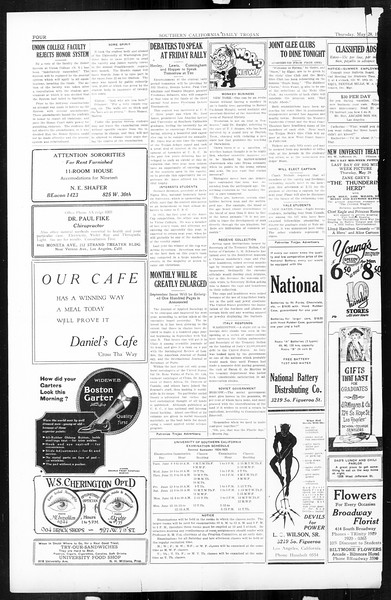 Daily Trojan, Vol. 16, No. 115, May 28, 1925
