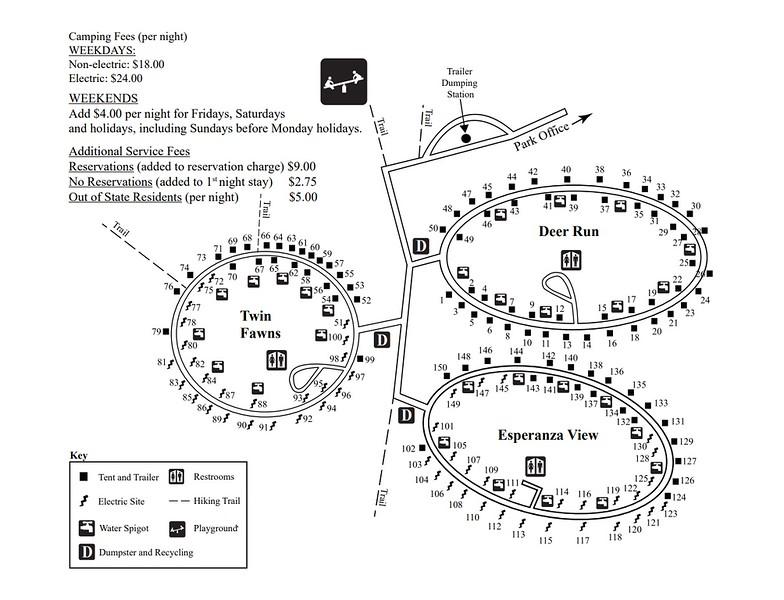 Keuka Lake State Park (Campground Map)