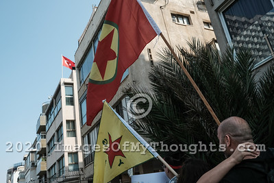 20191017 Tel Aviv Protest Denounces Turkey