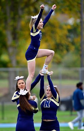 10/12/2019 Mike Orazzi | StaffrNewington High School Cheerleaders during Saturday's football game with Platt in Newington. r