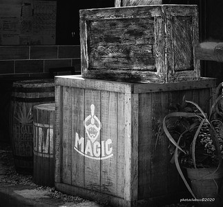 PRINT-MONO-INTERMEDIATE-SILVER-MAGIC IN A BOX-BARBARA KLIMCZAK