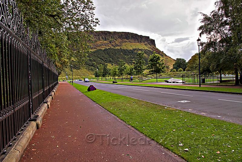 The Salisbury Crags behind Holyrood Palace