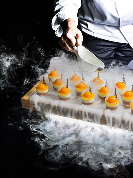 Chef Dianne Rossamondo's Ice Cream desssert, prepared for Pastry & Baking magazine.