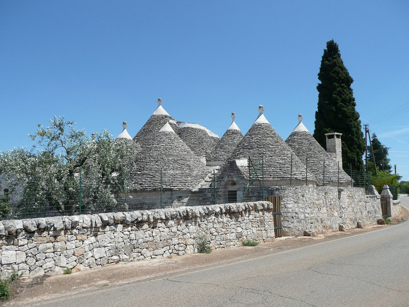 Trulli outside of Alberobello