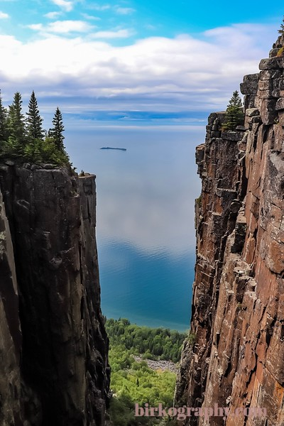 The top of the Giant!  It was a 4+ hour hike to get here and the view was spectacular!  950 feet above Lake Superior the sheer cliffs are absolutely amazing!  Sleeping Giant Provincial Park, ON, Canada