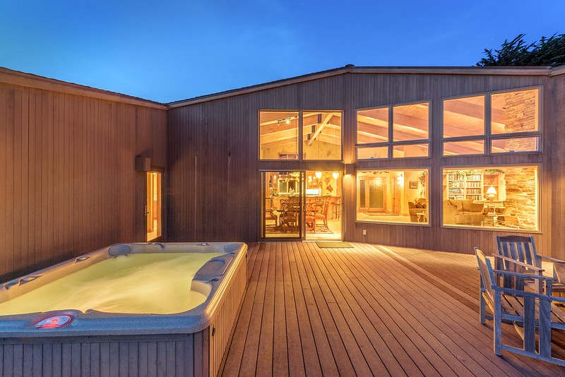 Back Deck & Hot Tub at Twilight