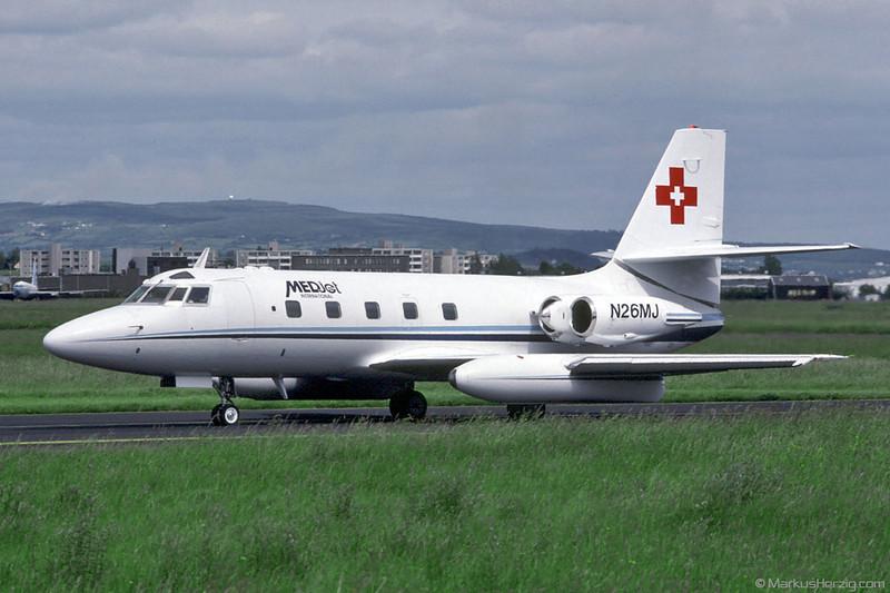 N26MJ L1329 Jetstar 731 Medjet International @ Shannon Ireland 15Jun92