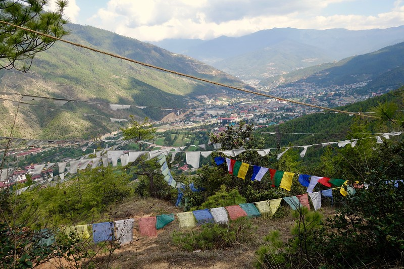 Thimphu valley hike view