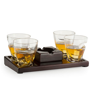 Glass w/ Cigar Holder
