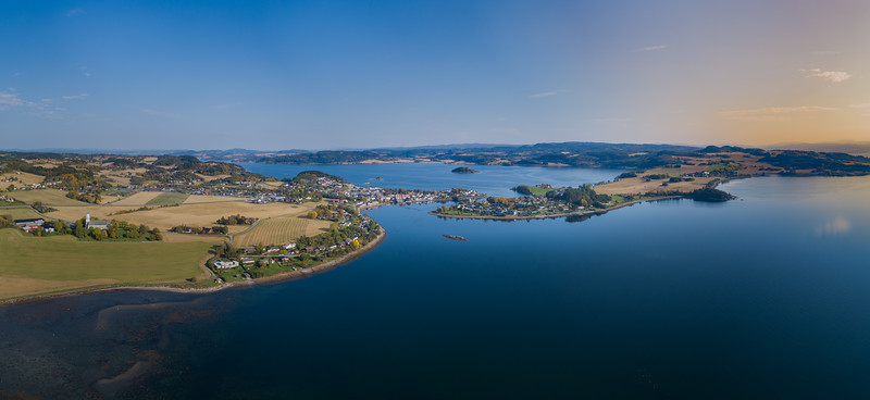Straumen (Inderøy) aerial panorama
