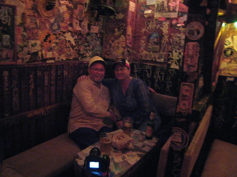 David and me at Big Bad John's Bar