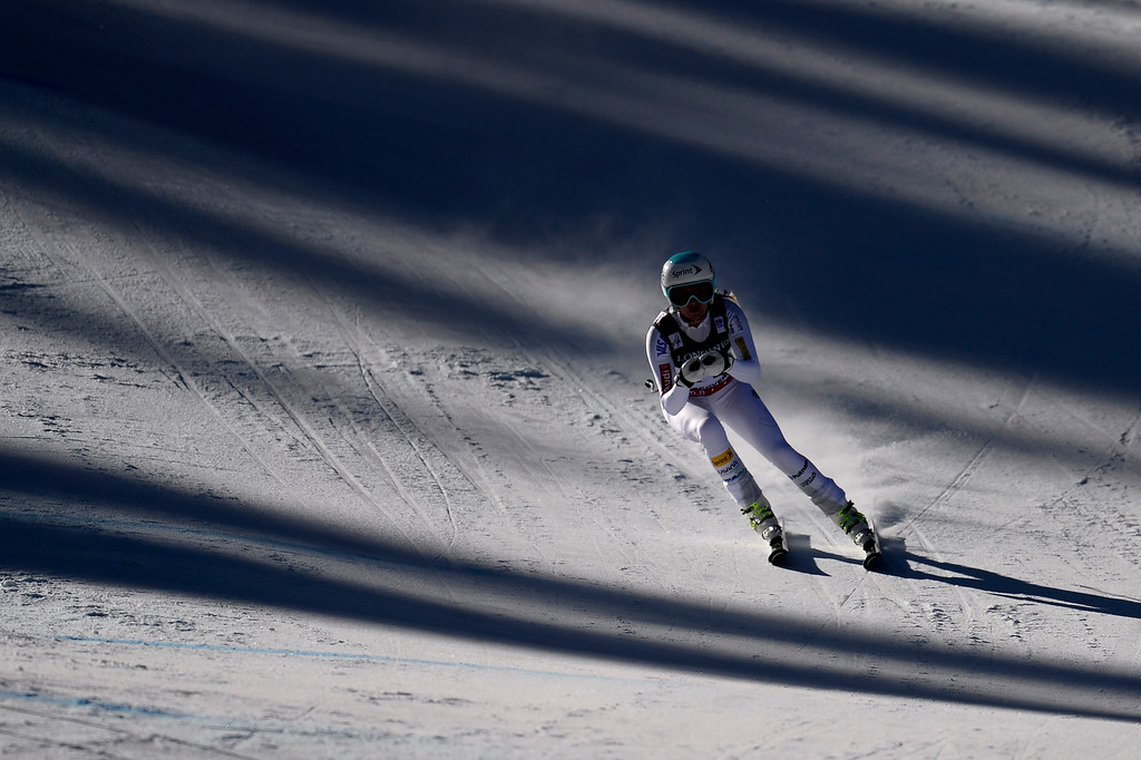 . BEAVER CREEK, CO - FEBRUARY 09: Julia Mancuso of the USA competes during the men\'s alpine combined final. FIS Alpine World Ski Championships 2015 on Monday, February 9, 2015. (Photo by AAron Ontiveroz/The Denver Post)
