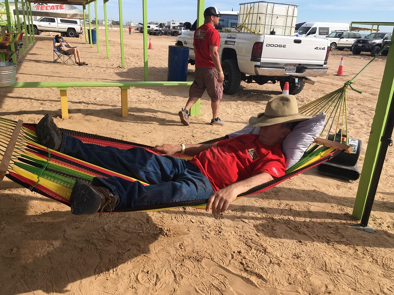 Sonora Rally 2018 - Day 2 - Craig Williams renting some time in my El Golfo hammock