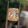5.35ct Fancy Brownish Yellow Emerald Cut Diamond, GIA SI2 18