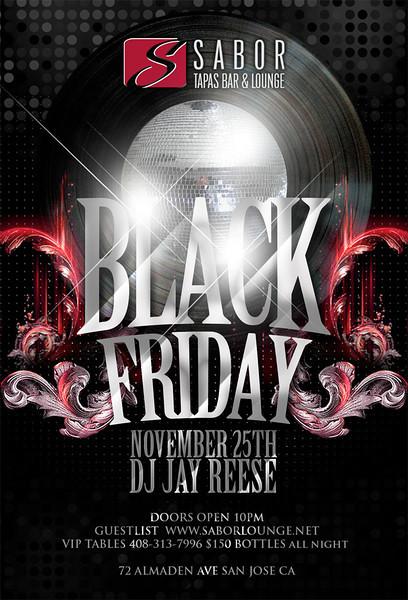 Black Friday @ Sabor Tapas Bar & Lounge 11.25.11