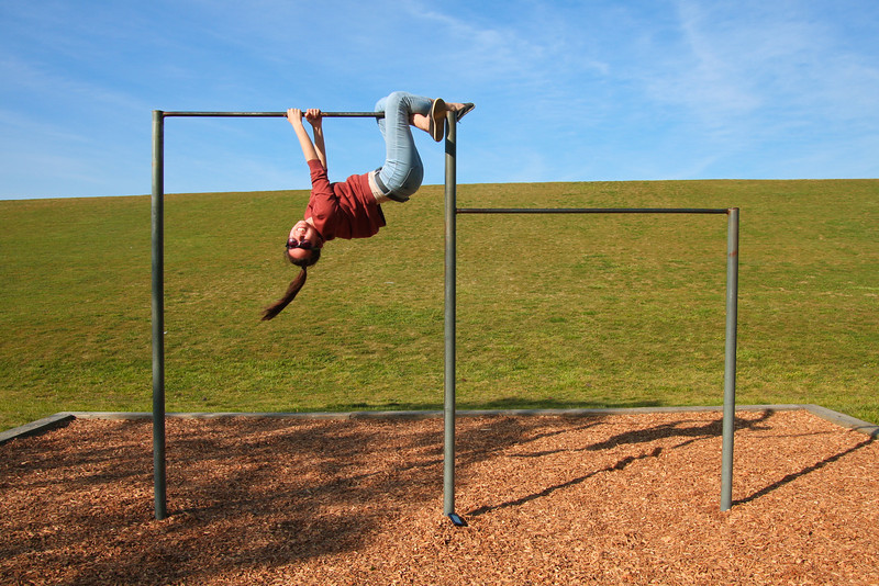 04/21/2012 - Monkeying around on Windows XP's pull up bars.