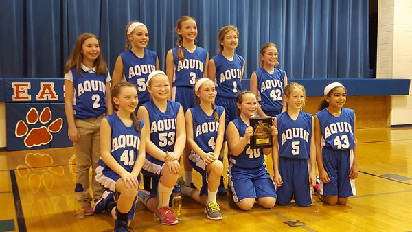 5th girls bball conference tourney champs . 2.27.16