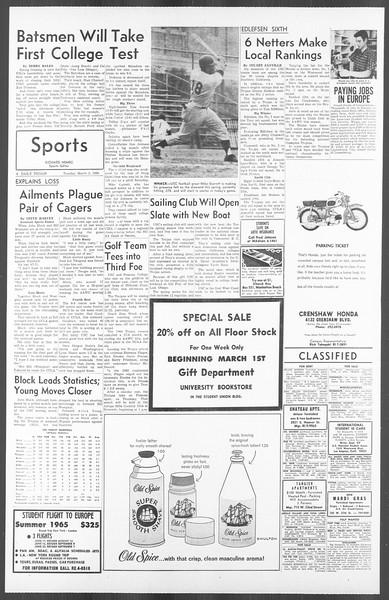 Daily Trojan, Vol. 56, No. 74, March 02, 1965