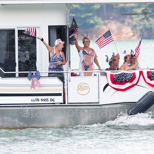 2016 Watauga Lake Boat Parade 07/04/16
