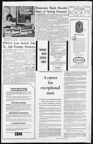 Daily Trojan, Vol. 55, No. 59, February 11, 1964