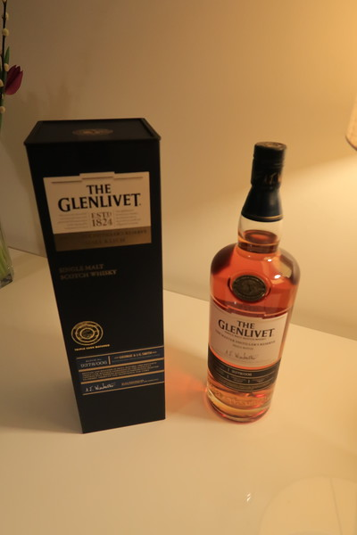 Glenlivet Master Distiller's Reserve Small Batch 9378/006 - a gift from my uncle Donald to my Dad for his Diamond Wedding Anniversary. He never opened it, and Mum passed it to me for my 60th birthday. Tough dram.