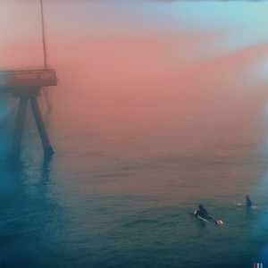 The Venice Pier: Surfing in the early light