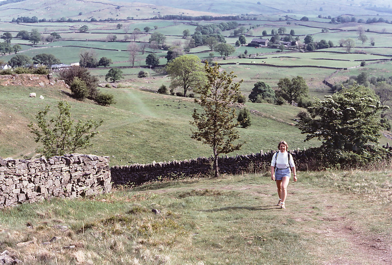 Di hiking the Lake District, England, 1984