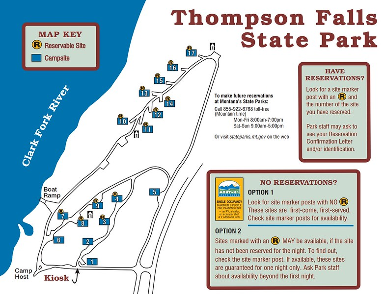 Thompson Falls State Park (Campground Map)